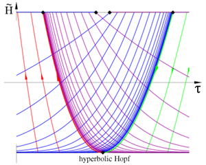 Takens-Bogdanov point with hyperbolic Hopf